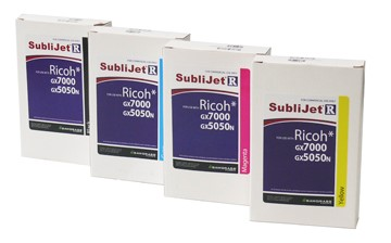 Bild von Ricoh 7000 GXe /5000DN Set 4 Farben SubliJet R Cartridges je 60ml Black,Cyan,Magenta,Yellow