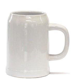 grzybowski kg bierkrug weihenstephan keramik wei rohling unbedruckt 0 5l. Black Bedroom Furniture Sets. Home Design Ideas